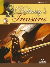 Debussy Claude : DEBUSSY'S TREASURES / Claude Debussy, arr. Franco Cesarini - Violon and Piano