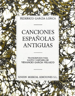 Garcia Lorca Conciones Espanolas Antiguas Chant/Guitare