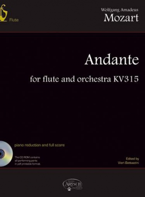 Mozart Wolfgang Amadeus : ANDANTE FLUTE & ORCH.K315+CD