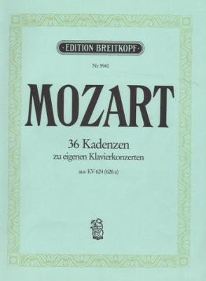 Mozart Wolfgang Amadeus : 36 Original-Kadenzen KV 624