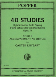 40 Studies : High School Of Cello Playing, Op. 73, Cello II Part