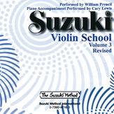 Suzuki Violin School Cd, Vol.3 (Revised)