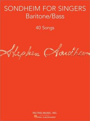Sondheim Stephen : Sondheim For Singers: Baritone/Bass