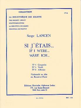 Si J'Etais (N04 Couperin/N05 Verdi/N06 Albeniz/Bson/Alto Ou Vclle Piano Lm064