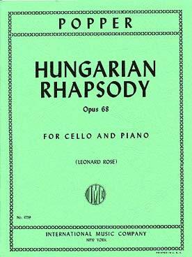 Popper David : HUNGARIAN RHAPSODY Op68 Vc Pft