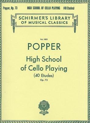 Popper David : David Popper: High School of Cello Playing, Op. 73