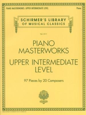 Schirmer's Library Of Musical Classics Volume 2110: Piano Masterworks - Upper Intermediate Level