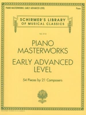 Piano Masterworks - Early Advanced Level