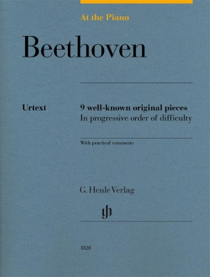 Beethoven Ludwig Van : At The Piano - 9 well-known original pieces in progressive order of difficulty with practical comments