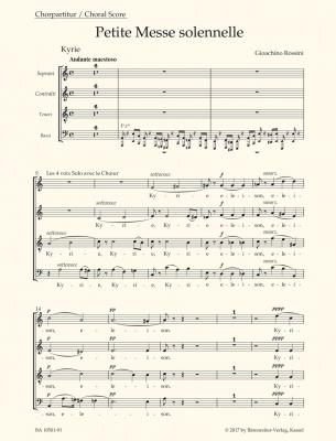 Rossini Gioacchino : Petite Messe Solennelle