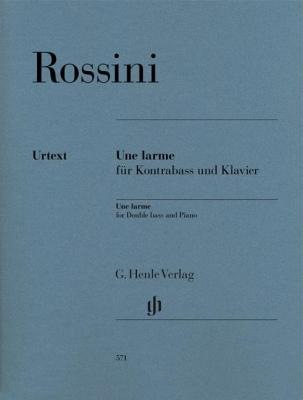 Rossini Gioacchino : Une Larme for Double bass and Piano