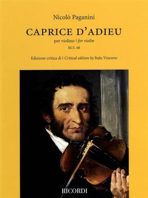 Paganini Niccolo : Caprice d'adieu