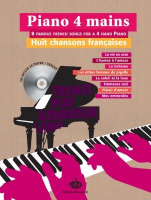 Lafitte Jordanne : Piano 4 Mains 8 Chansons Francaises Cd