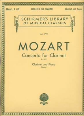 Mozart Wolfgang Amadeus : Mozart Concerto For Clarinet/Piano K.622