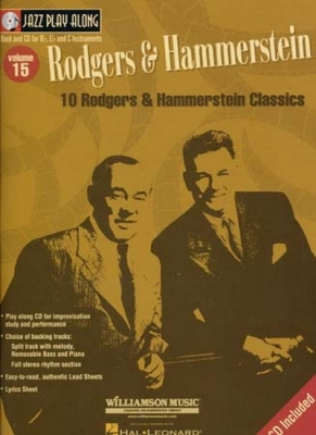 Jazz Play Along Vol.15 Rodgers And Hammerstein Bb Eb C Inst.