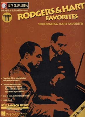 Jazz Play Along Vol.11 Rodgers And Hart Favorites Bb Eb C Inst.