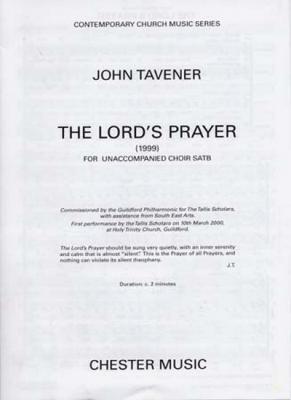 Tavener John : Lord'S Prayer John Tavener Satb