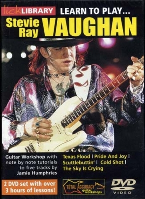 Dvd Lick Library Learn To Play Vaughan Stevie Ray 2 Dvds