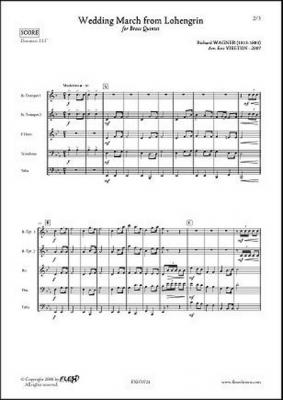 Partitions : Wagner R. - Marche Nuptiale De Lohengrin ...