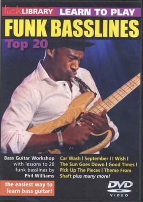 Dvd Lick Library Learn To Play Funk Basslines Top 20