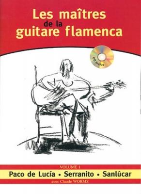 Worms Claude : MAITRES GTR FLAMENCA V.1+CD