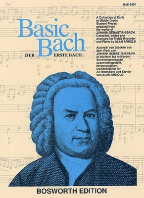 Basic Bach For Treble Recorder & Piano