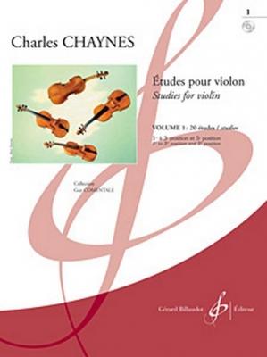 Etudes Pour Le Violon Vol.1 : 20 Etudes - 1er Cycle