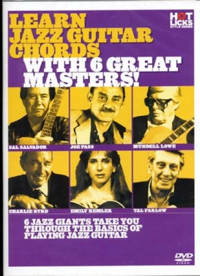 Dvd Learn Jazz Guitar Chords W/ 6 Great Masters (Francais)