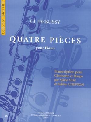 Debussy Claude : 4 Pièces pour Piano - Transcription pour