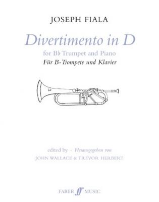 Fiala Joseph : Divertimento in D (trumpet and piano)