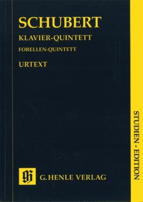 Schubert Franz : Quintet A major op. post. 114 D 667 for Piano, Violin, Viola, Violoncello and Double Bass (Trout Quintet)