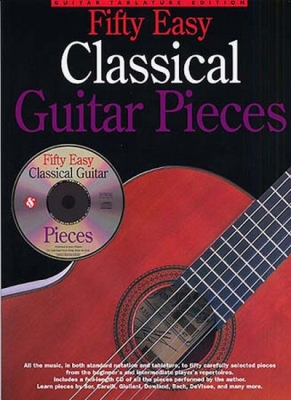 Fifty Easy Classical Guitar Pieces Tab Cd