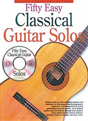 Fifty Easy Classical Guitar Solos Tab Cd