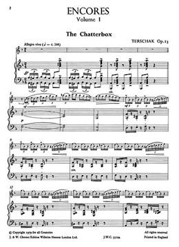 Wye Trevor : Wye Trevor Flute Encores For Flute And Piano
