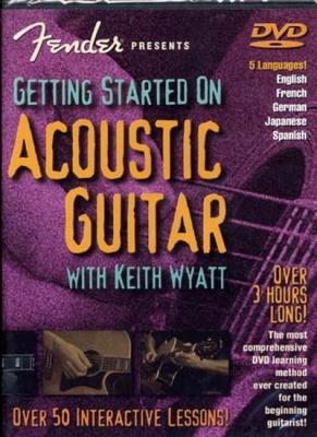 Dvd Fender Getting Started On Acoustic Guitar K.Wyatt (Francais)