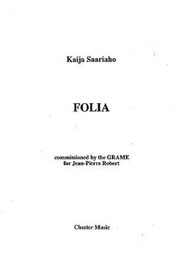 Saariaho Kaija : Saariaho Kaija Folia Score