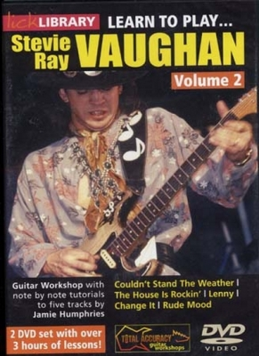 Dvd Lick Library Learn To Play Vaughan Stevie Ray Vol.2 (2 Dvd)