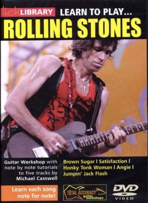 Dvd Lick Library Learn To Play Rolling Stones