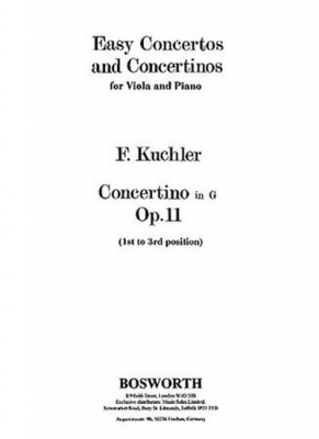 Kuchler Ferdinand : Kuchler Concertino In G Op.11 1St-3Rd Position Viola And Piano