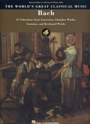 Bach Johann Sebastian : Bach World'S Great Classical Music Interm. To Adv. Piano Solo