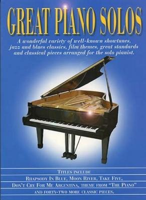 Great Piano Solos Bleu