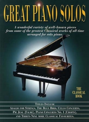 Great Piano Solos Classical Book