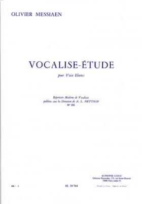 Messiaen Olivier / Hettich : Vocalise Etude N0151