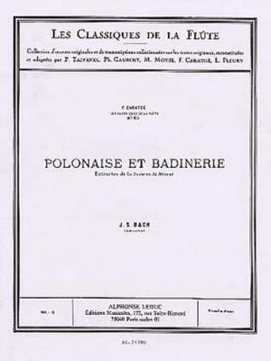 Bach Johann Sebastian / Caratge : Classique Flute N085 Suite En Si Mineur:Polonaise Et Badinerie
