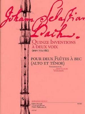 15 Inventions A 2 Voix Bwv772/786 2 Flûtes A Bec Alto Et Tenor