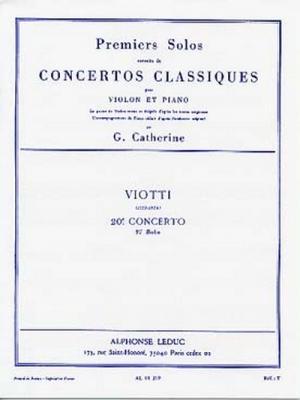 Viotti Giovanni Battista / Catherine : Premiers Solos Concertos Classiques:N020 Violon Et Piano