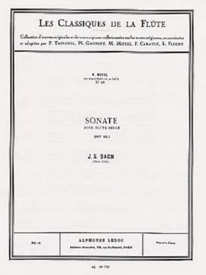 Bach Johann Sebastian / Moyse M. : Classique Flute N018 Sonate Pour Flute Seule