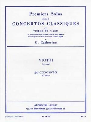 Viotti Giovanni Battista / Catherine : Premiers Solos Concertos Classiques:N024 Violon Et Piano