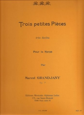 3 Petites Pieces Tres Faciles Op. 7 Harpe