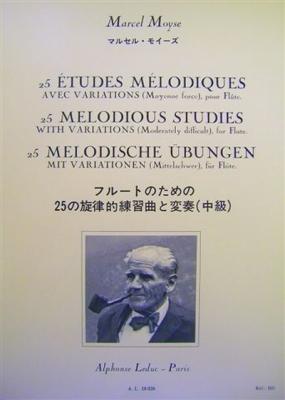Moyse Marcel : 25 Etudes Melodiques Avec Variations Flute
